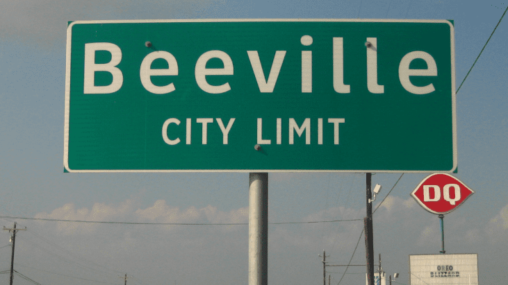 UFO over Beeville, Texas