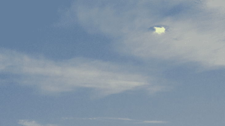 UFO Photographed in the Clouds over Stockton, California