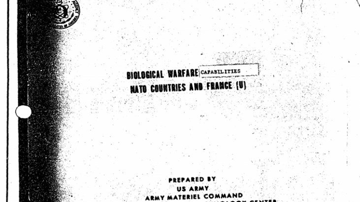 Medical Intelligence International Biological / Chemical Weapons Assessments