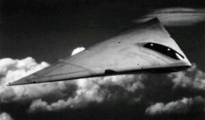 An artist's impression of the A-12 Avenger II in flight