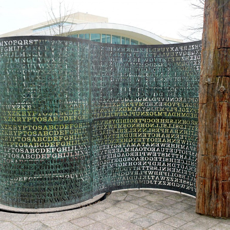 The CIA's Kryptos Statue