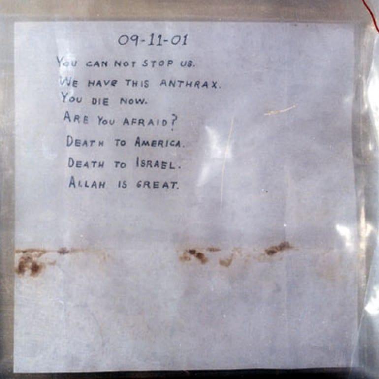 Amerithrax Investigation (Anthrax Attacks via U.S. Postal Mail)