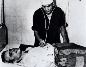 John McCain is administered to in a Hanoi, Vietnam hospital as a prisoner of war in the fall of 1967.