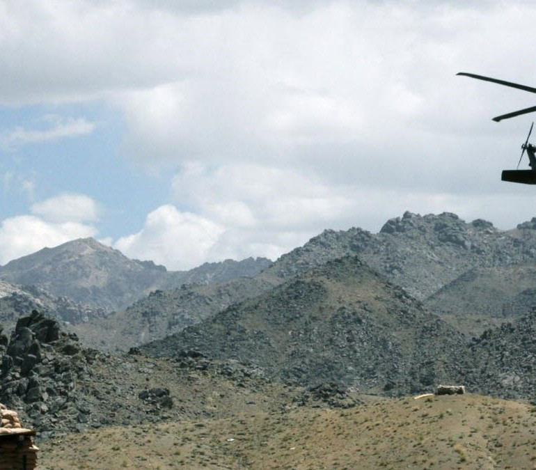 Taliban downing of US helicopter in Zabul, Afghanistan, December 17, 2013