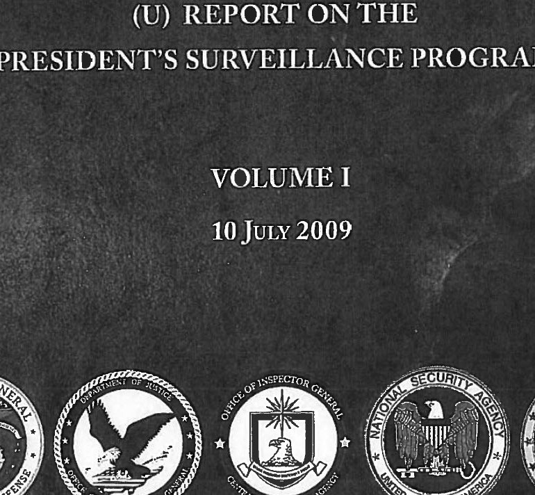 Department of Justice – Collection Activities Authorized by President George W. Bush post 9/11/01