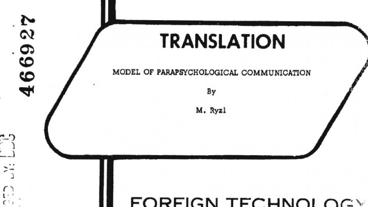 Model of Parapsychological Communication, July 1965