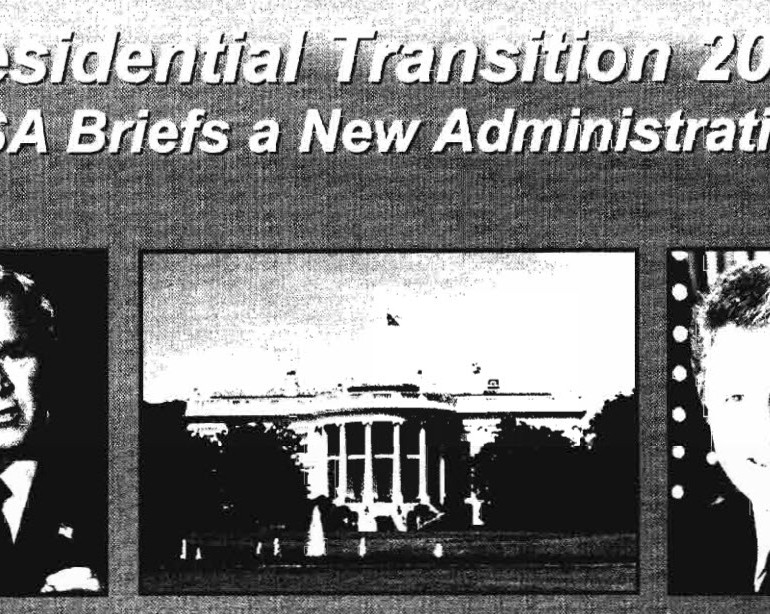 Presidential Transition 2001: NSA Briefs a New Administration (2004 Document)