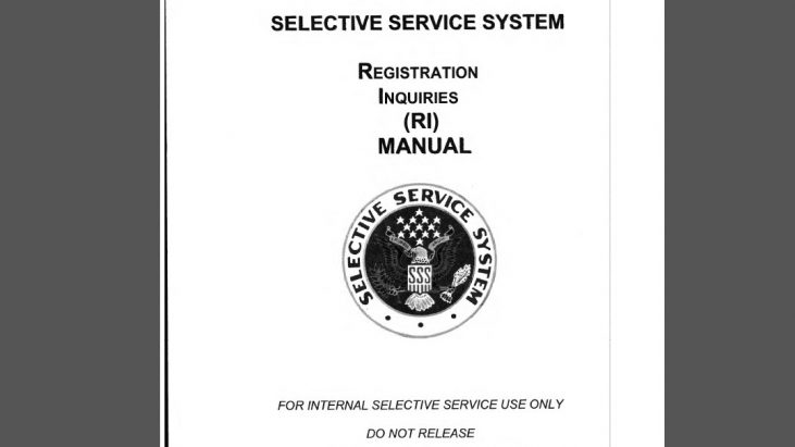 Selective Service System Registration Inquiries Manual – RI Manual