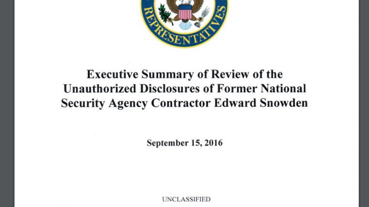 Executive Summary of Review of the Unauthorized Disclosures of Former National Security Agency Contractor Edward Snowden, September 15, 2016