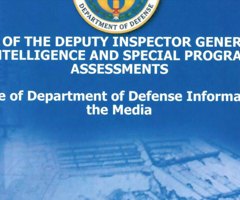 Congressionally Requested Action on Released Department of Defense Information to the Media, June 14, 2013