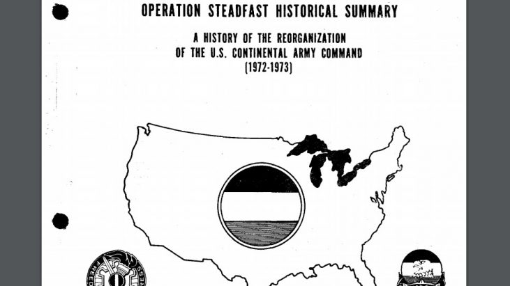 Operation STEADFAST: U.S. Army Reorganization, 1972-1973