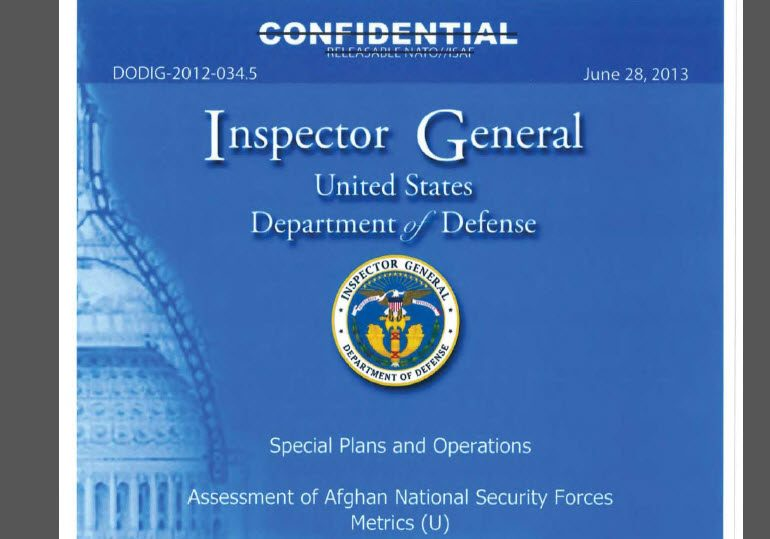 Quarterly Assessment of Afghan National Security Forces Metrics, Ministry of Interior Police Forces, October 2012 – March 2013