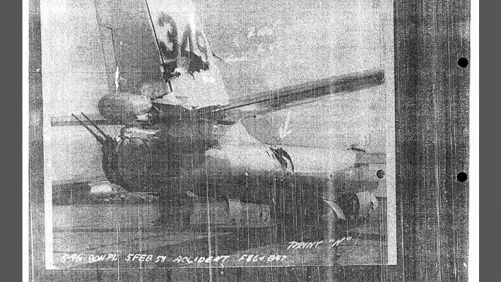 B-47B/F-86L Aircraft Mishap Report, 5 February 1958