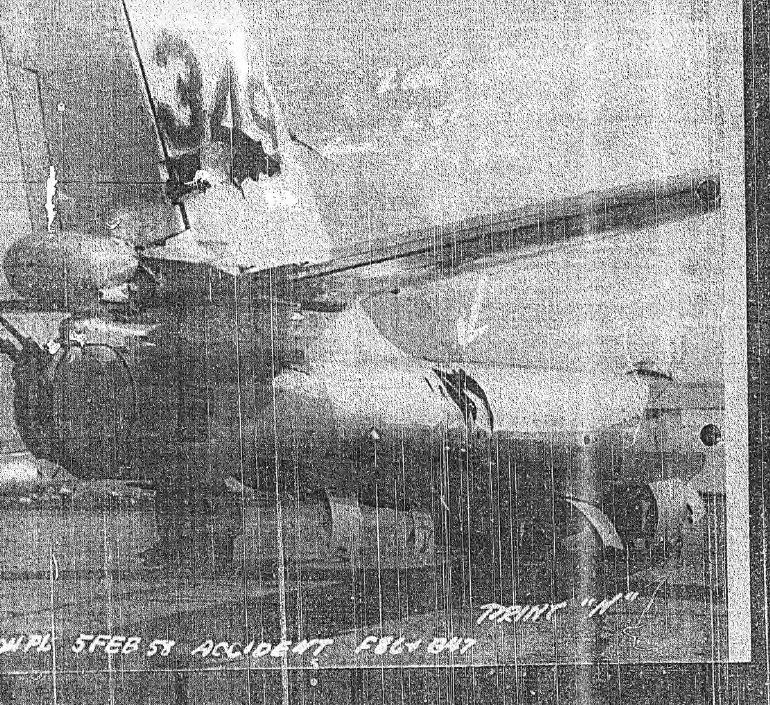 B-47B/F-86L Aircraft Mishap Report, 5 February 1958