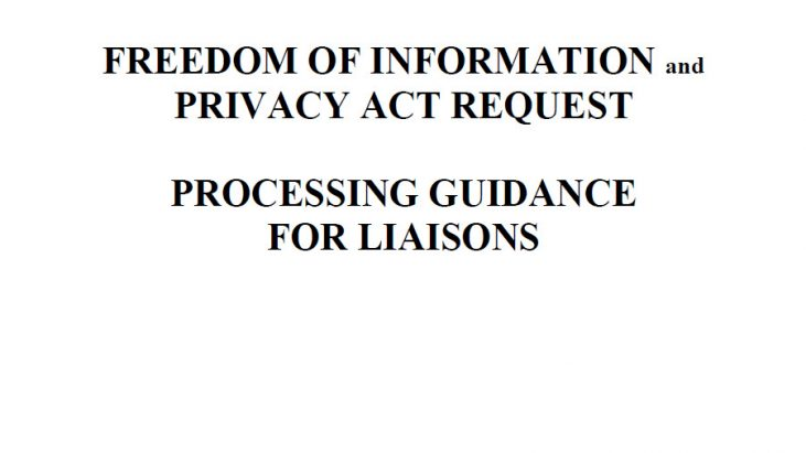 Securities and Exchange Commission's FOIA/PA Work Procedure Manual, August 29, 2011