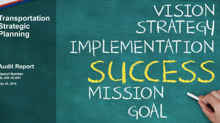 Vision Strategy Implementation Success Mission Goal, Audit Report Number NL-AR-16-001, May 20, 2016