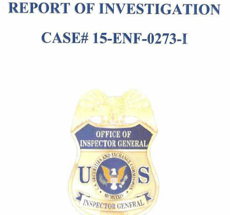SEC Investigation: Improper Transmission of Nonpublic Information via E-mail, May 29, 2015 (CASE# 15-ENF-0273-1)