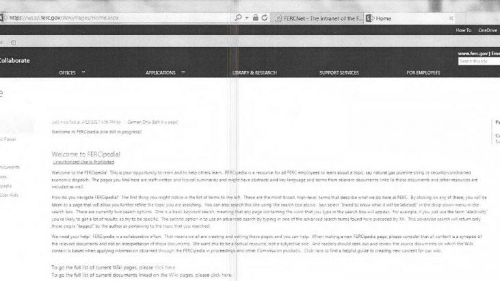 "Federal Energy Regulatory Commission (FERC) ""Wiki"" Site FERCipedia"