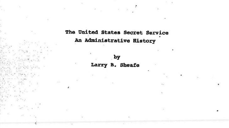 The United States Secret Service:  An Administrative History, 1983