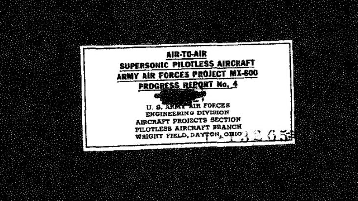 Air to Air Supersonic Pilotless Aircraft, Army Air Forces Project MX-800, Progress Report No. 4, March 13, 1947