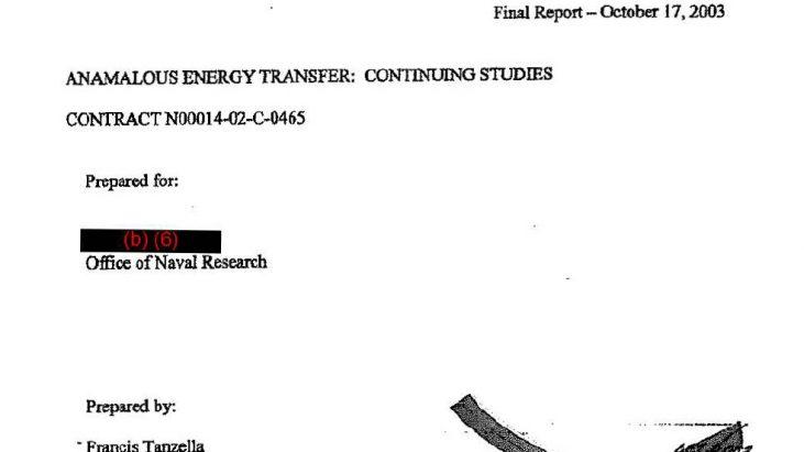ANAMALOUS (sic) [ANOMALOUS] ENERGY TRANSFER: CONTINUING STUDIES, October 17, 2003