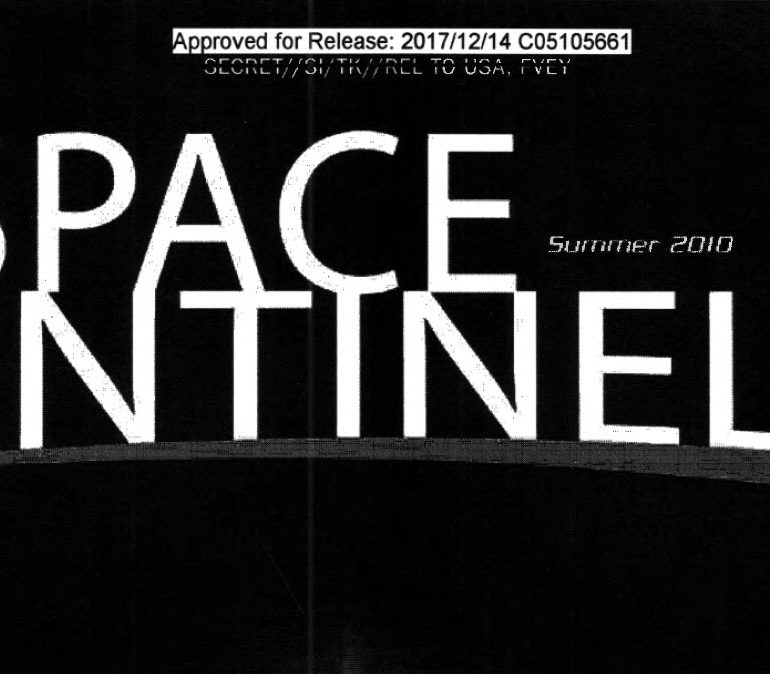 National Reconnaissance Office (NRO) Official Magazine: The Space Sentinel