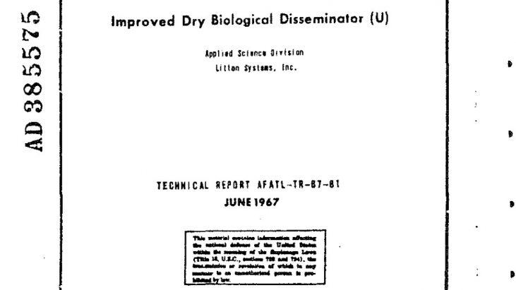 Improved Dry Biological Disseminator, June 1967