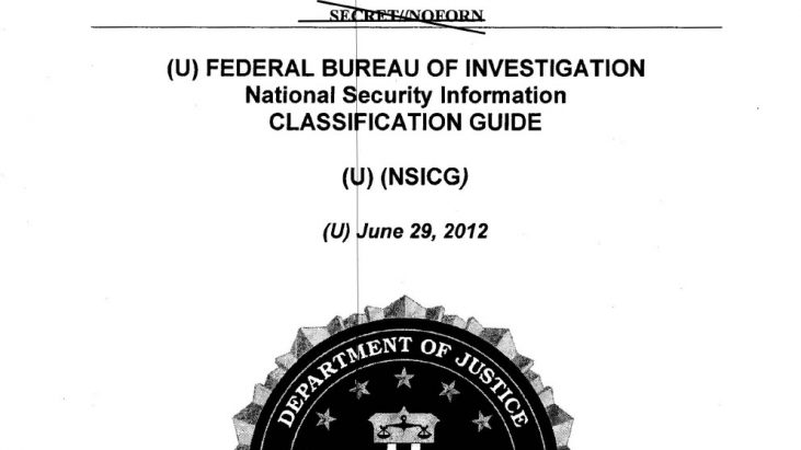 FBI Classification Guidebooks