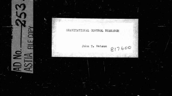 Gravitational Control Research by John T. Watson, February 1961
