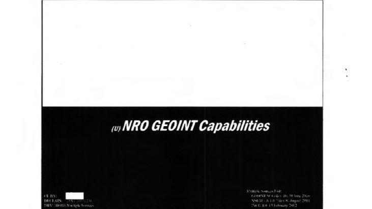 NRO GEOINT Capabilities, February 2012