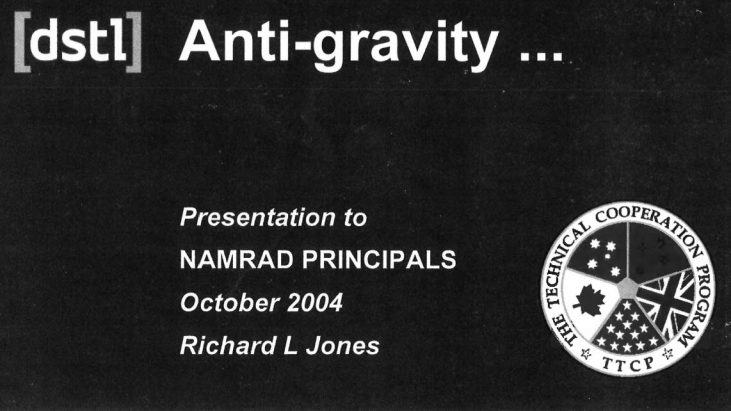 Anti-gravity Presentation, October 2004 – Non-Atomic Military Research And Development (NAMRAD)