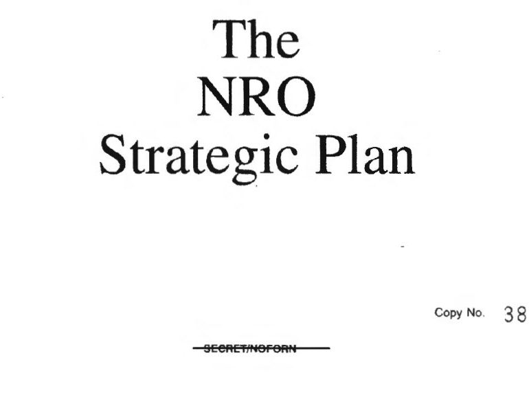 The NRO Strategic Plan, 1993
