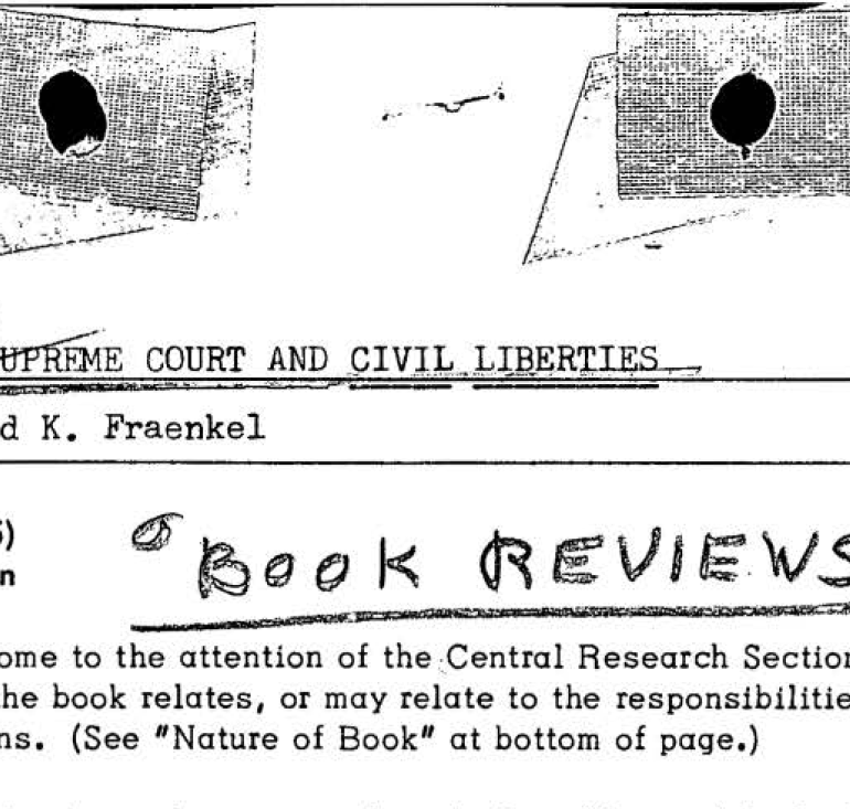 FBI File 62-HQ-46855: Files on Book Reviews & Purchases