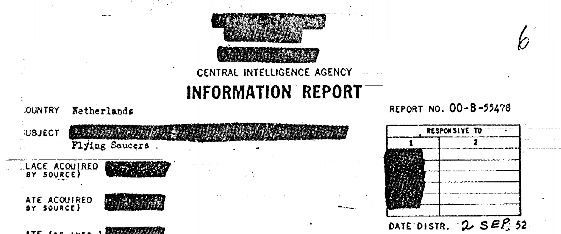 CIA Continues Trend of Losing UFO Related Documents in April