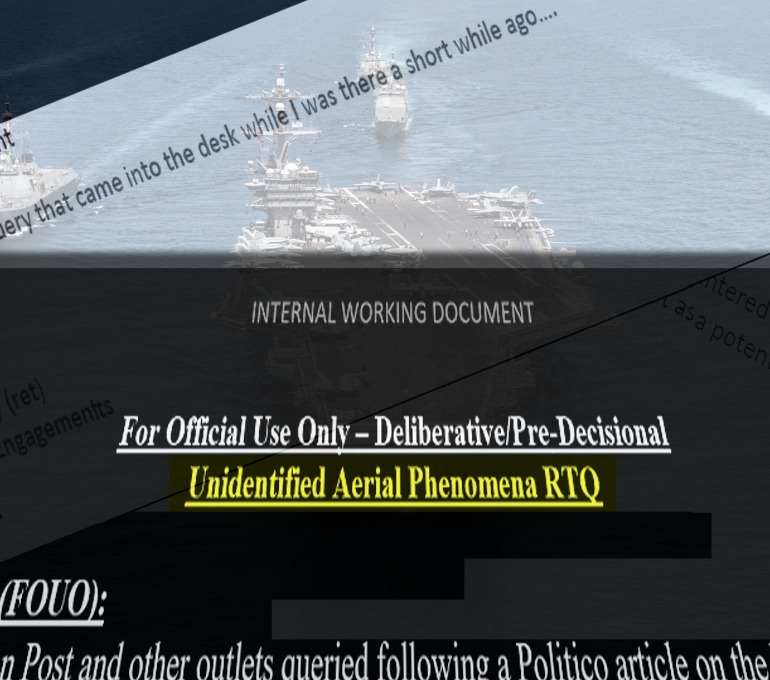 Internal Air Force/Navy E-Mails on Unidentified Aerial Phenomena Revealed