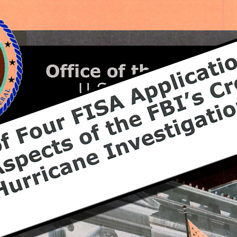Department of Justice Inspector General Report on FISA Applications and Other Aspects of the FBI's Crossfire Hurricane Investigation, December 2019