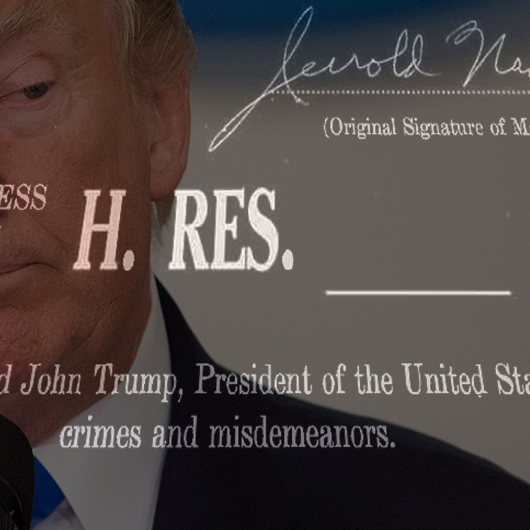 Articles of Impeachment Against President Donald J. Trump
