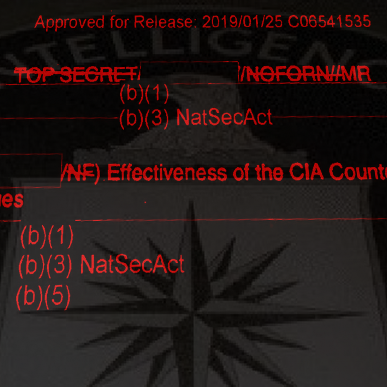 Effectiveness of the CIA Counterterrorist Interrogation Techniques, March 2005