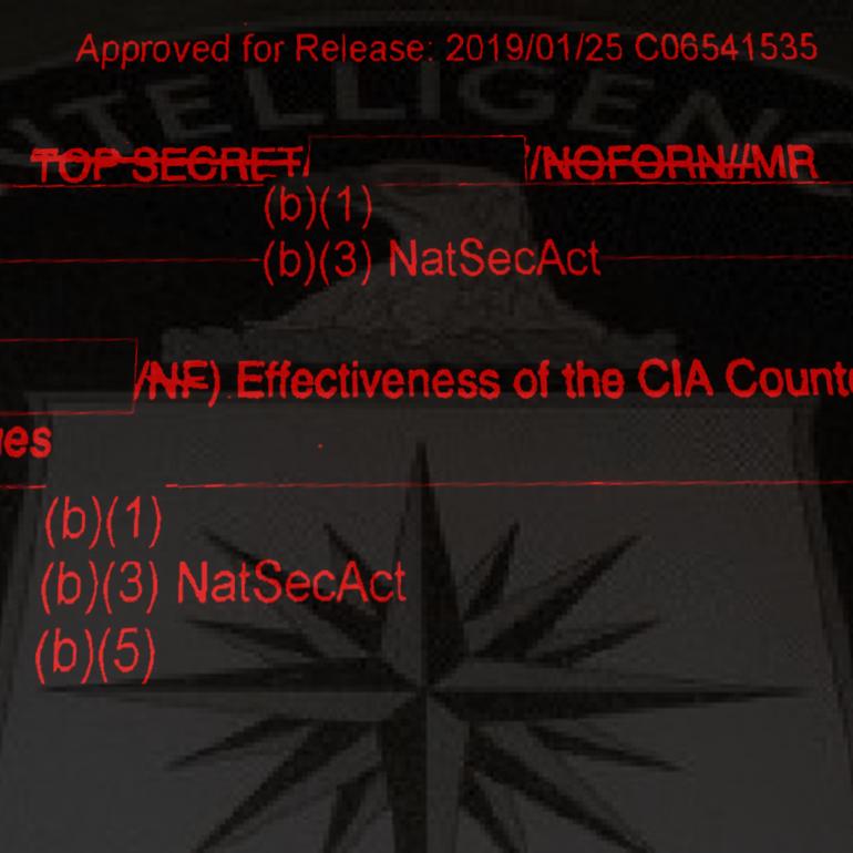 Effectiveness of the CIA Counterterrorist Interrogation Techniques, March 2005