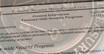 Treasury Security Manual (TD P15-71), June 2011