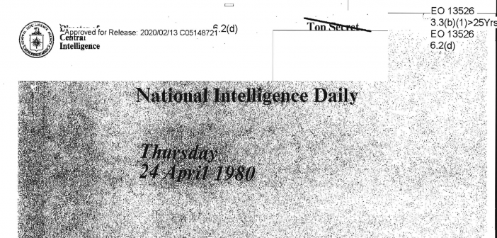 National Intelligence Daily — April 24, 1980