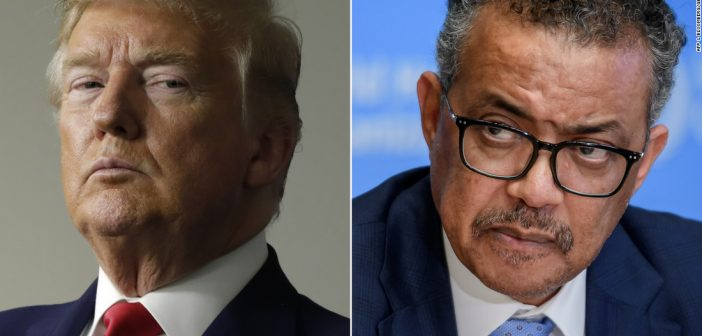 President Donald Trump Letter to World Health Organization Director-General Dr. Tedros Ghebreyesus