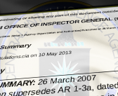 CIA Agency Regulations About Their Office of the Inspector General (OIG)