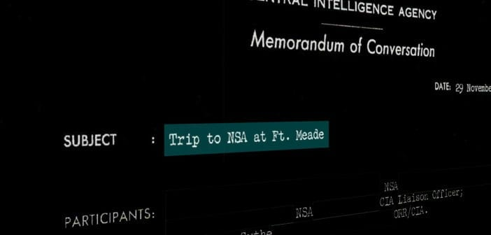 Trip to NSA at Ft. Meade, 29 November 1958